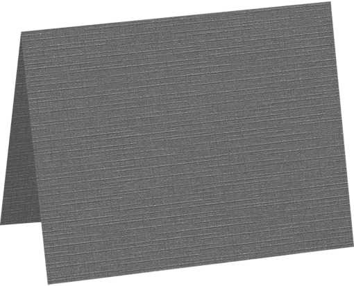 A1 Folded Card (3 1/2 x 4 7/8) Sterling Gray Linen