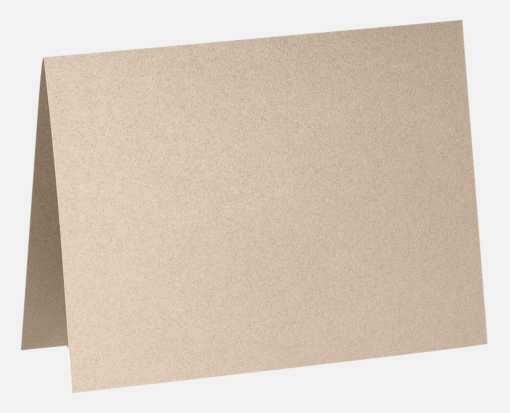 A1 Folded Card (3 1/2 x 4 7/8) Taupe Metallic