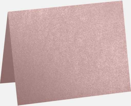 A1 Folded Card (3 1/2 x 4 7/8) Misty Rose Metallic - Sirio Pearl®