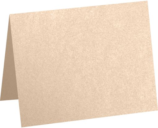 A1 Folded Card (3 1/2 x 4 7/8) Coral Metallic - Stardream®