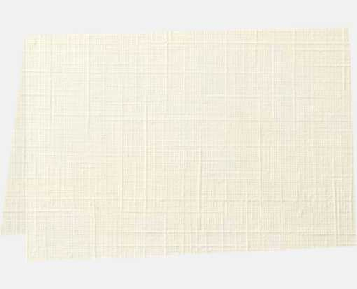 A1 Folded Card (3 1/2 x 4 7/8) - 100lb. Natural Linen Natural Linen