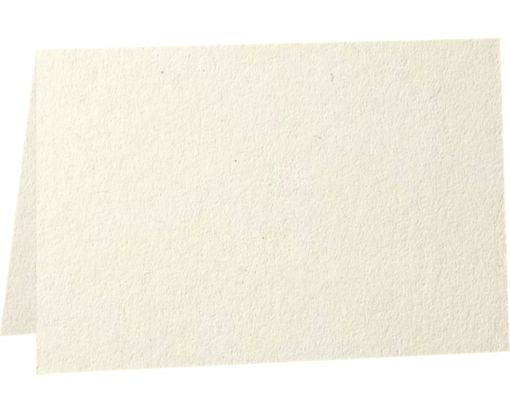 A1 Folded Card (3 1/2 x 4 7/8) - 80b. Natural - 100% Recycled Natural - 100% Recycled
