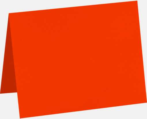 A1 Folded Card (3 1/2 x 4 7/8) Neon Red-Orange