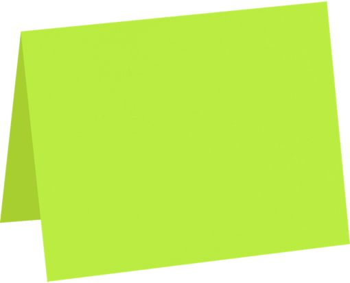 A1 Folded Card (3 1/2 x 4 7/8) Electric Green