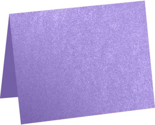 A2 Folded Card (4 1/4 x 5 1/2) Amethyst Metallic