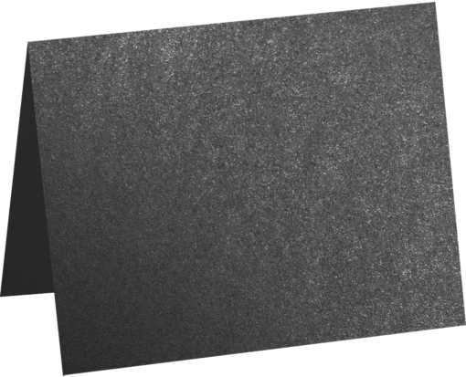 A2 Folded Card (4 1/4 x 5 1/2) Anthracite Metallic