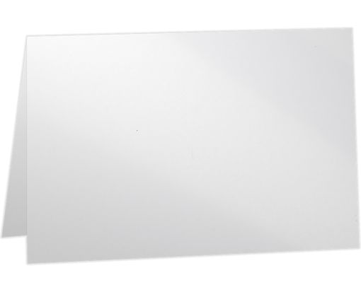 A2 Folded Card (4 1/4 x 5 1/2) - 100lb. Glossy White Glossy White