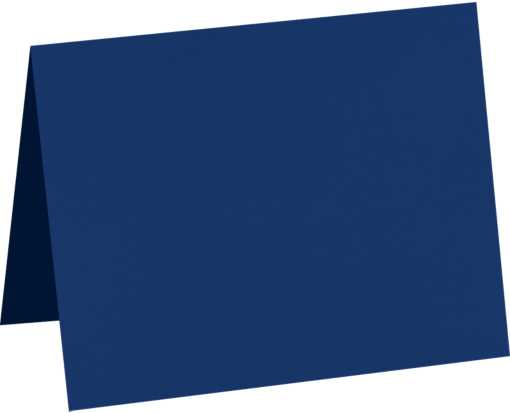 A2 Folded Card (4 1/4 x 5 1/2) - Navy Navy