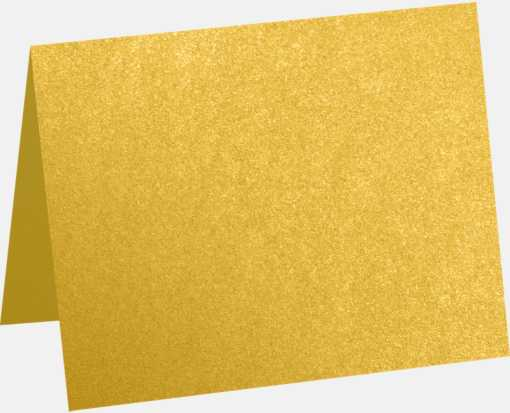A2 Folded Card (4 1/4 x 5 1/2) Fine Gold Metallic - Stardream®