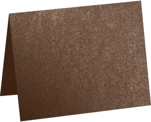 A2 Folded Card (4 1/4 x 5 1/2) Bronze Metallic