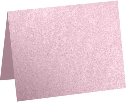 A2 Folded Card (4 1/4 x 5 1/2) - Rose Quartz Metallic Rose Quartz Metallic