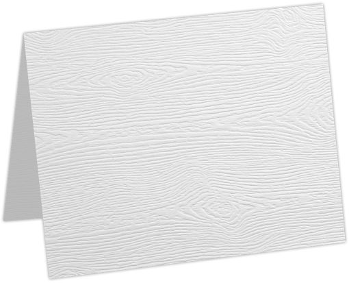 A2 Folded Card White Birch Woodgrain