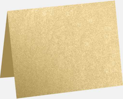 A2 Folded Card (4 1/4 x 5 1/2) Blonde Metallic