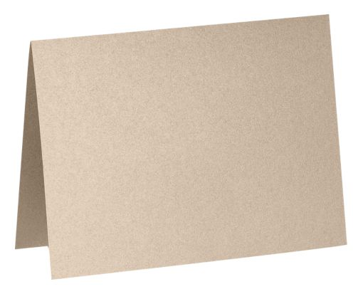 A2 Folded Card (4 1/4 x 5 1/2) Taupe Metallic