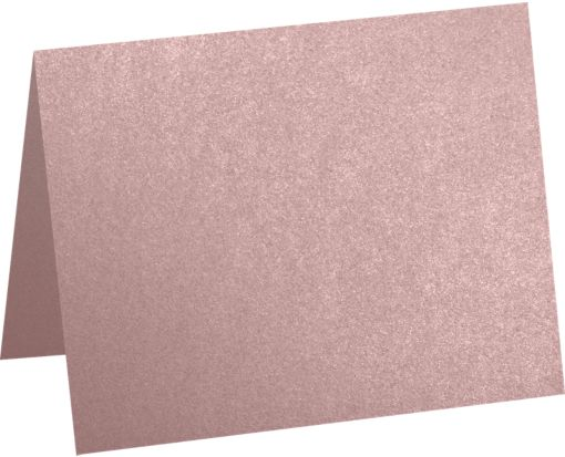 A2 Folded Card (4 1/4 x 5 1/2) Misty Rose Metallic - Sirio Pearl®