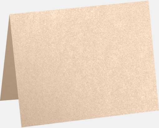 A2 Folded Card (4 1/4 x 5 1/2) Coral Metallic - Stardream®