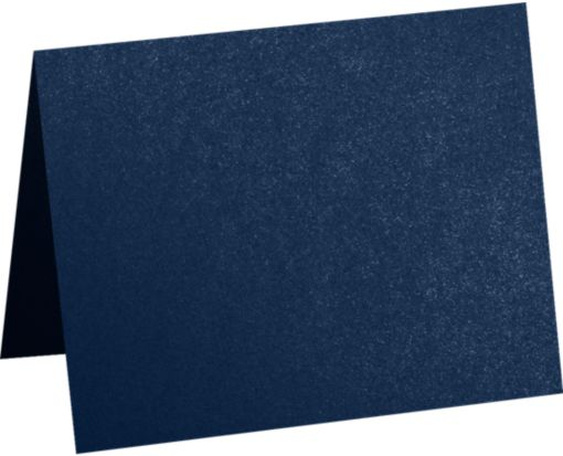 A2 Folded Card (4 1/4 x 5 1/2) Lapis Metallic - Stardream®