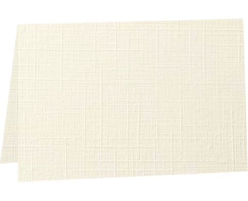 A2 Folded Card (4 1/4 x 5 1/2) - 100lb. Natural Linen Natural Linen