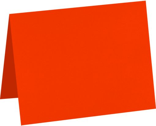 A2 Folded Card (4 1/4 x 5 1/2) Neon Red-Orange