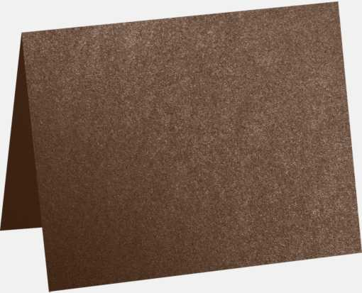 A6 Folded Card (4 5/8 x 6 1/4) Brown