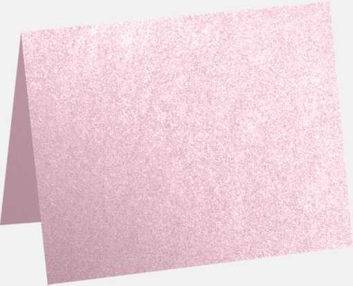 A6 Folded Card (4 5/8 x 6 1/4) Rose Quartz Metallic