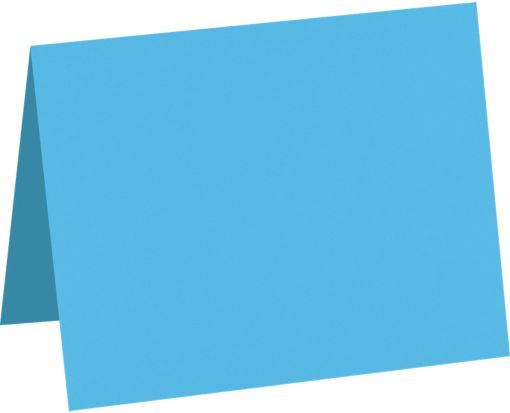 A6 Folded Card (4 5/8 x 6 1/4) Bright Blue