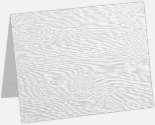 A6 Folded Card White Birch Woodgrain