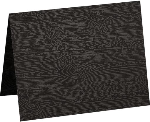 A6 Folded Card (4 5/8 x 6 1/4) Brasilia Black Woodgrain