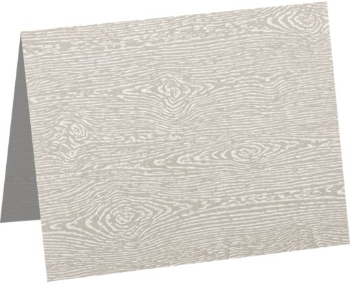 A6 Folded Card (4 5/8 x 6 1/4) Brasilia Gray Woodgrain
