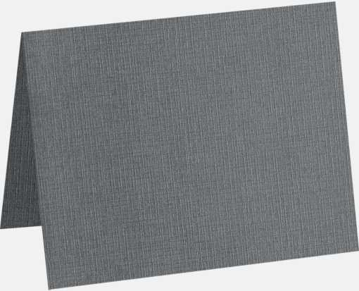 A6 Folded Card (4 5/8 x 6 1/4) Sterling Gray Linen