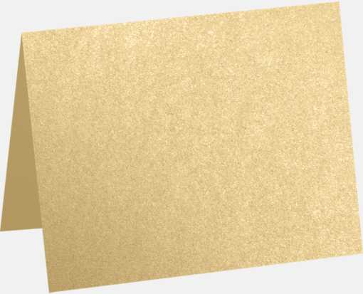 A6 Folded Card (4 5/8 x 6 1/4) Blonde Metallic