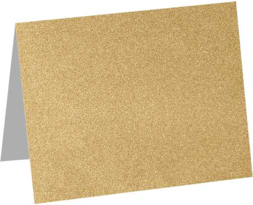 A6 Folded Card (4 5/8 x 6 1/4) Gold Sparkle