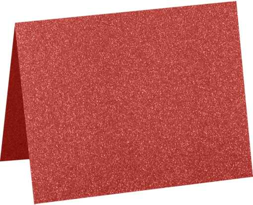 A6 Folded Card (4 5/8 x 6 1/4) Holiday Red Sparkle