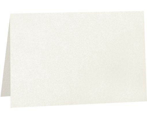A6 Folded Card (4 5/8 x 6 1/4) - 105lb. Quartz Metallic Quartz Metallic