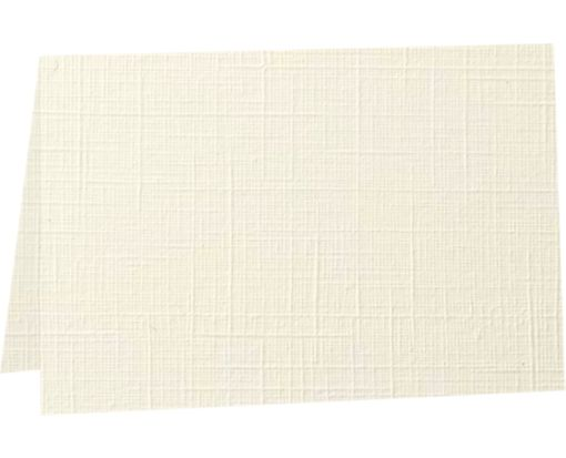 A6 Folded Card (4 5/8 x 6 1/4) - 100lb. Natural Linen Natural Linen