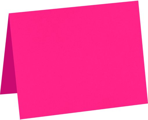 A6 Folded Card (4 5/8 x 6 1/4) Bright Fuchsia