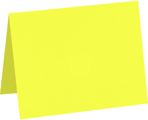 A6 Folded Card (4 5/8 x 6 1/4) Electric Yellow