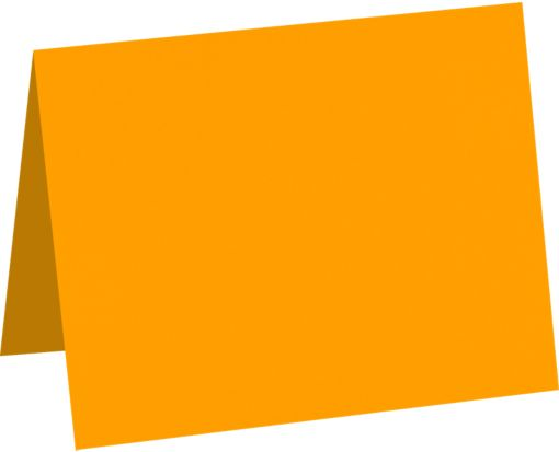 A6 Folded Card (4 5/8 x 6 1/4) Electric Orange