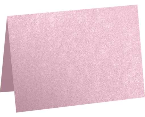A7 Folded Card (5 1/8 x 7) - Rose Quartz Metallic Rose Quartz Metallic