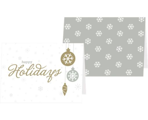 A7 Folded Card (5 1/8 x 7) Snowflakes