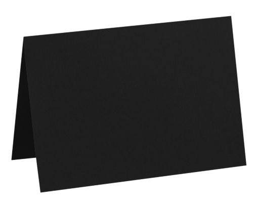 A7 Folded Card (5 1/8 x 7) Black Linen