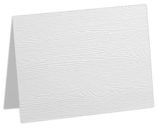 A7 Folded Card White Birch Woodgrain