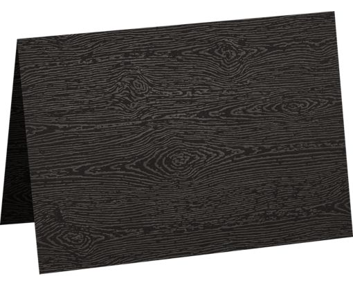 A7 Folded Card (5 1/8 x 7) Brasilia Black Woodgrain