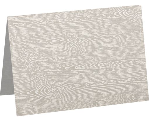 A7 Folded Card (5 1/8 x 7) Brasilia Gray Woodgrain