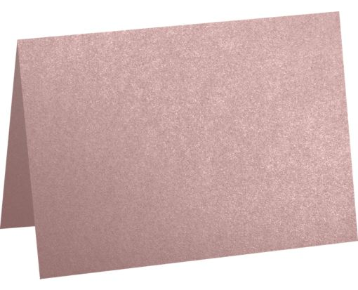 A7 Folded Card (5 1/8 x 7) Misty Rose Metallic - Sirio Pearl®