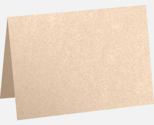 A7 Folded Card (5 1/8 x 7) Coral Metallic - Stardream®