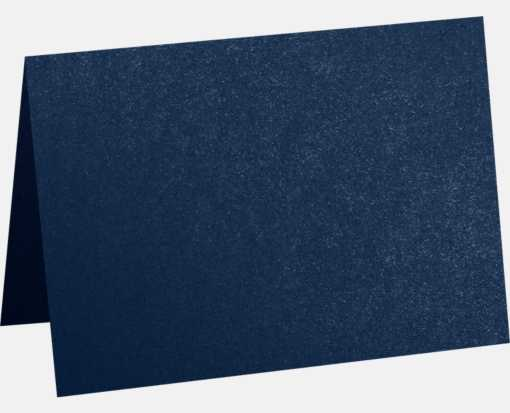 A7 Folded Card (5 1/8 x 7) Lapis Metallic - Stardream®