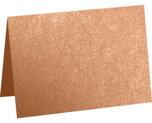 A7 Folded Card (5 1/8 x 7) Copper Metallic