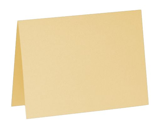A7 Folded Card (5 1/8 x 7) Blonde Metallic