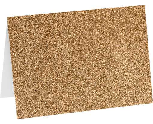 A7 Folded Card (5 1/8 x 7) - Rose Gold Sparkle Rose Gold Sparkle